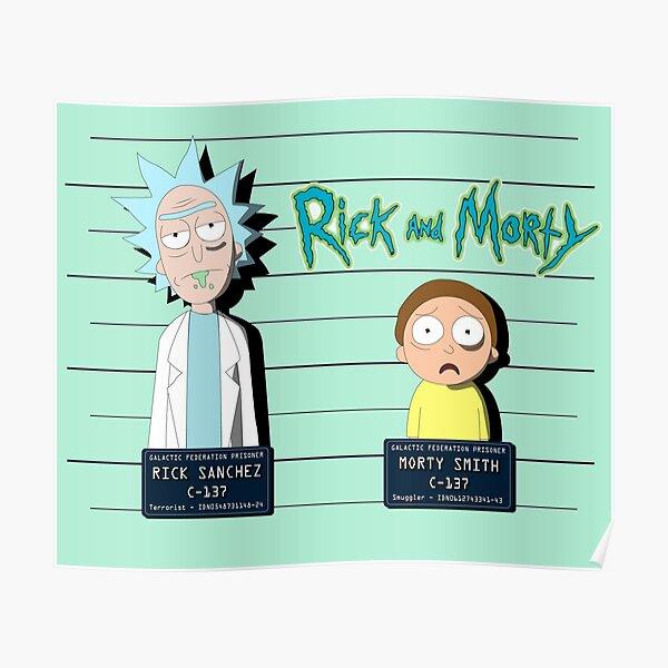 Rick et Morty Mugshot Poster