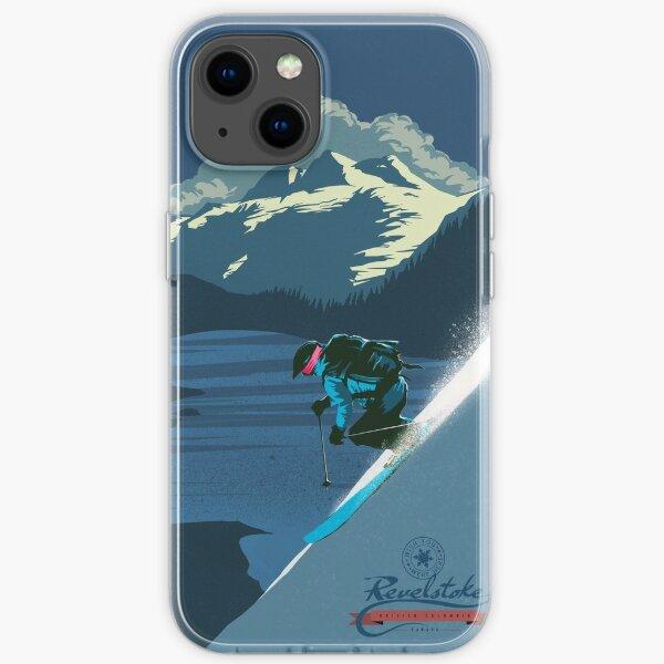 Impression ski rétro Revelstoke Coque souple iPhone
