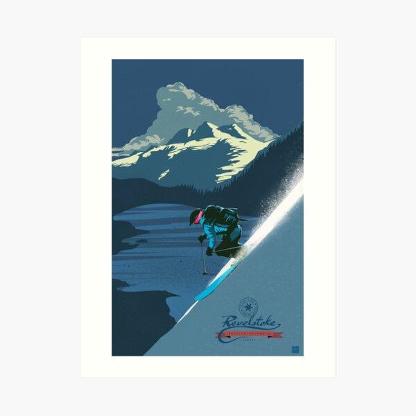 Retro ski print Revelstoke Art Print