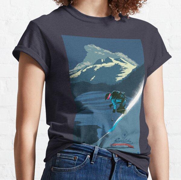 Impression ski rétro Revelstoke T-shirt classique