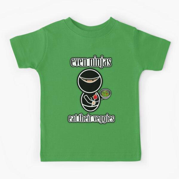 Even Ninjas Eat Their Veggies Kids T-Shirt