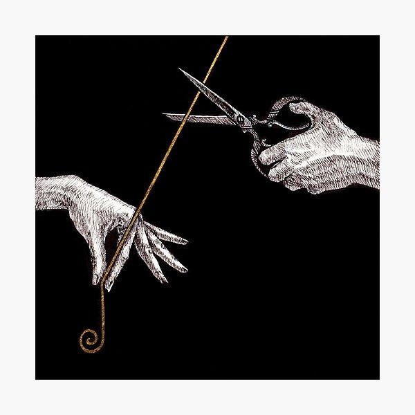 Thread of Life Ancient Greek Mythology Hercules Fates Mortal Scissors by Kimro Studio Photographic Print