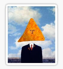 Nacho Normal Magritte Painting Sticker