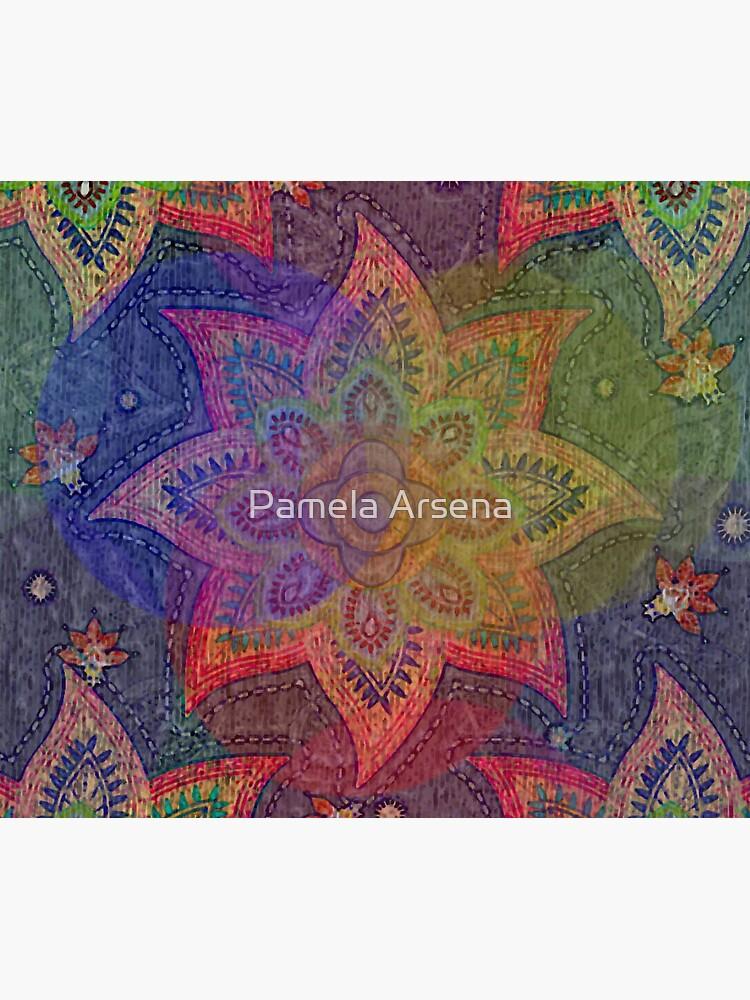 Psychedelic Mandala Rainbow Paisley by xpressio