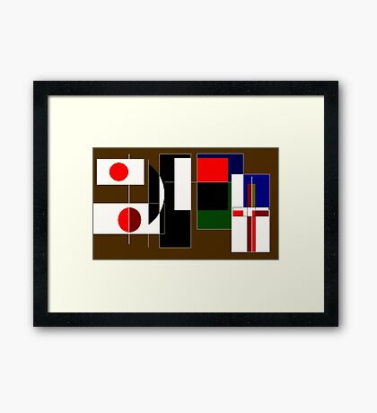 East and West Framed Print