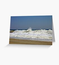 Riding the Surf at Hatteras  Greeting Card
