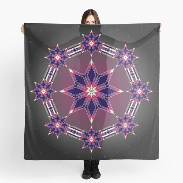 Morning Star Circle (Purple) Scarf