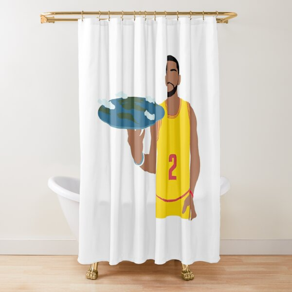 Kyrie Irving Flat Earth Shower Curtain