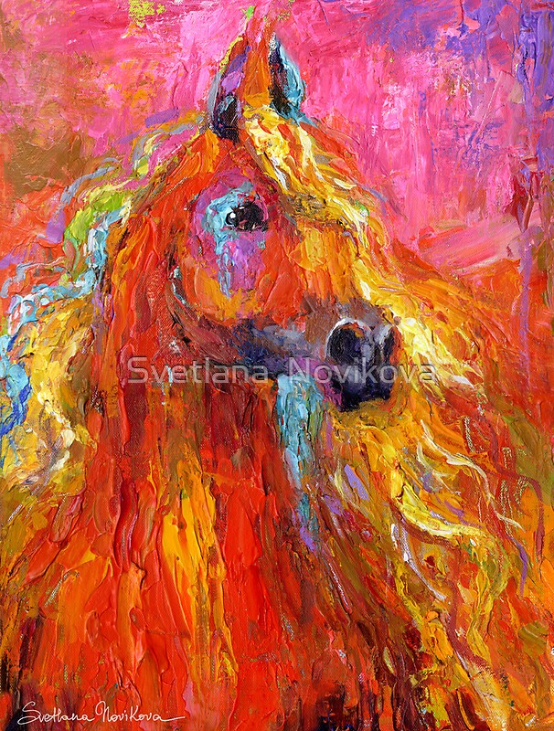 Quot Red Impressionistic Arabian Horse Painting Quot By Svetlana