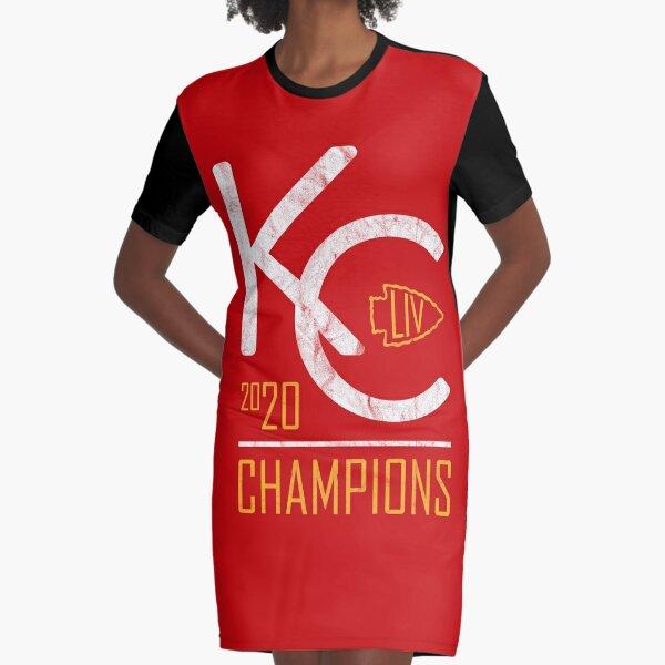Kansas City Chiefs 2020 Super Bowl Champions Graphic T-Shirt Dress