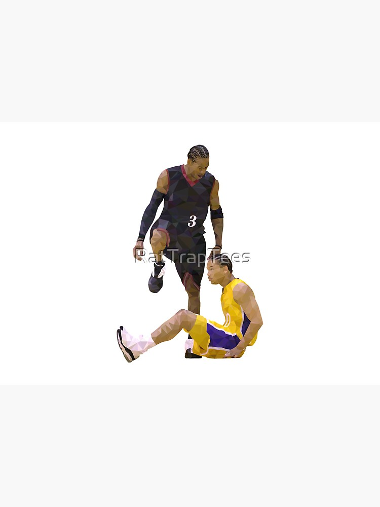 Allen Iverson Steps Over Tyronn Lue Low Poly by RatTrapTees