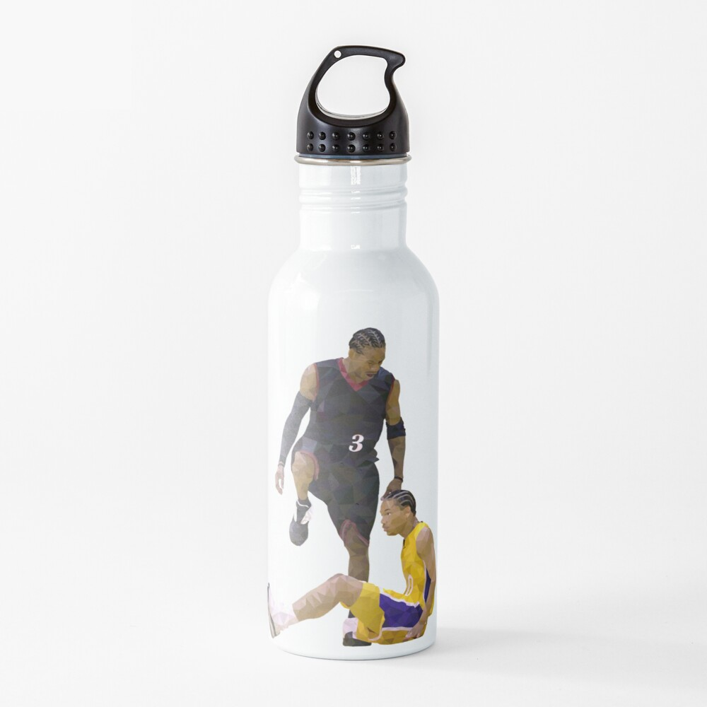 Allen Iverson Steps Over Tyronn Lue Low Poly Water Bottle