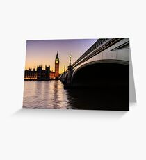 Big Ben at sunset  Greeting Card