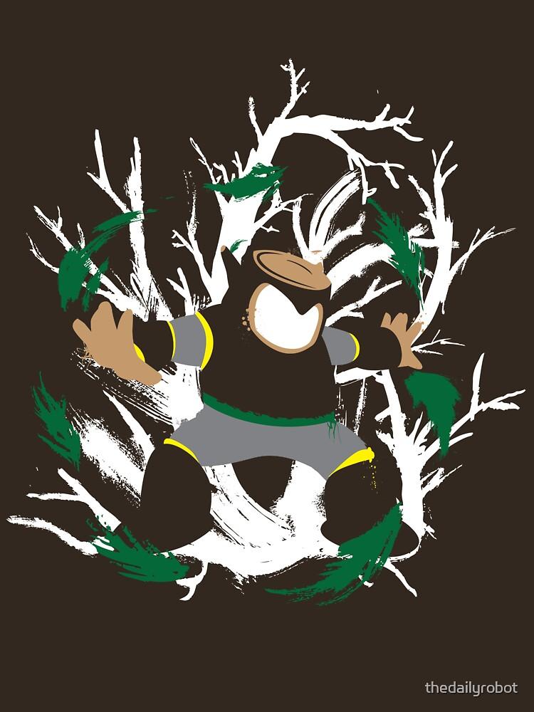 Wood Man Splattery Vector T | Unisex T-Shirt