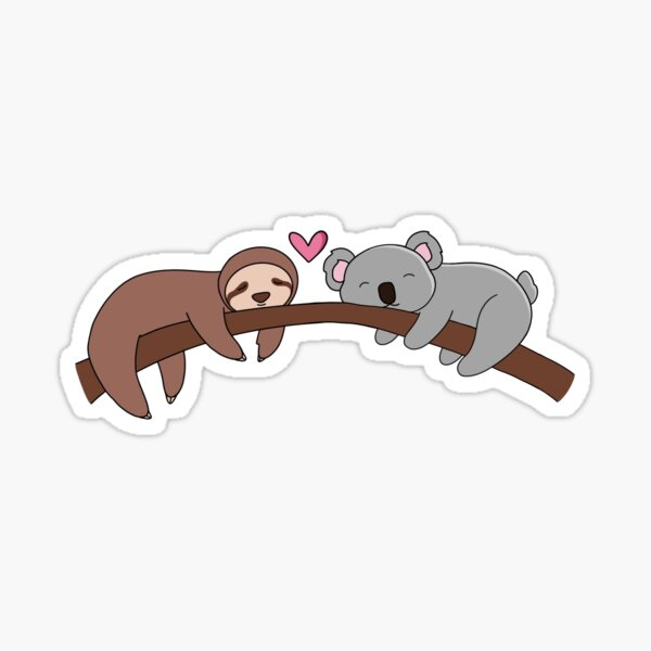 Sloth and Koala Love Sticker