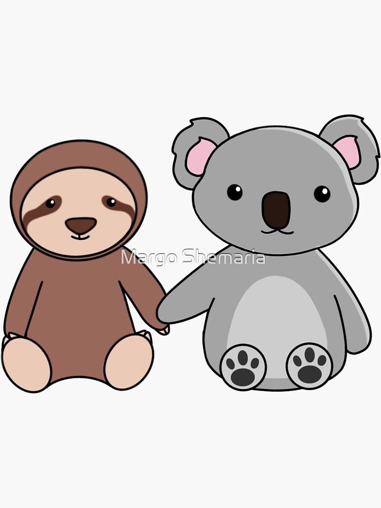 Sloth and Koala Friends de mshem