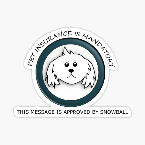 Rick and Morty an Important Message from Snowball Sticker