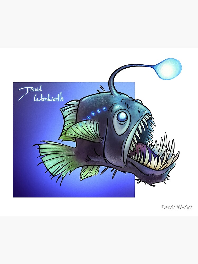 Predatory fish series: Angler Fish by DavidW-Art