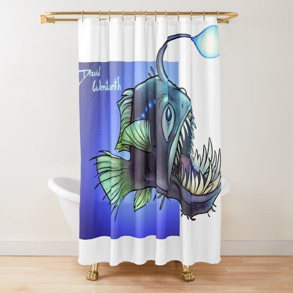 Predatory fish series: Angler Fish Shower Curtain