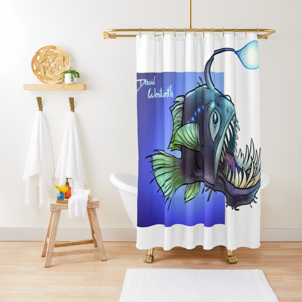 Predatory fish series: Angler Fish Shower Curtain