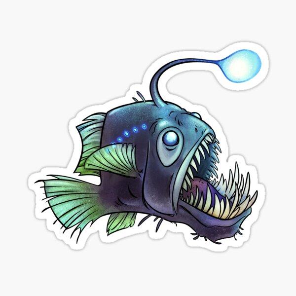 Predatory fish series: Angler Fish Sticker