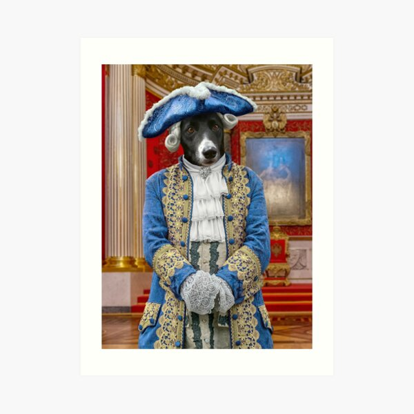 Count Jackula in the Palace Throne Room, St Petersburg Art Print