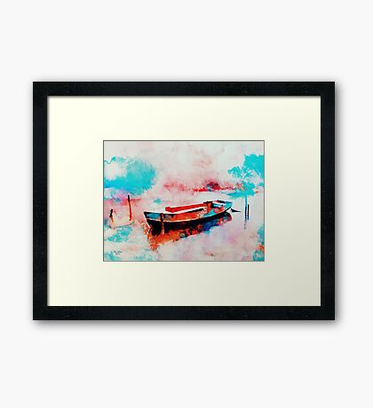 Morning Boat  Framed Print