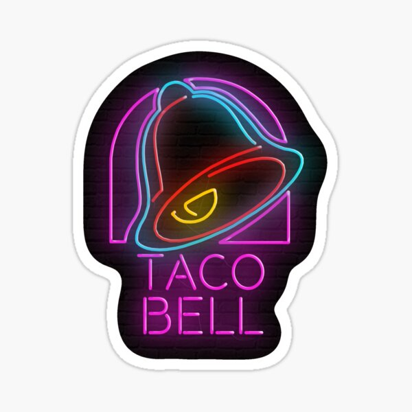 Neon 'Taco Bell' Sign Sticker