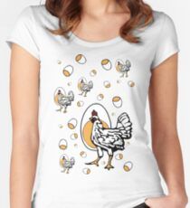 Retro Roseanne Chickens Women's Fitted Scoop T-Shirt