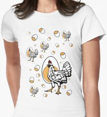 Retro Roseanne Chickens Women's Fitted T-Shirt