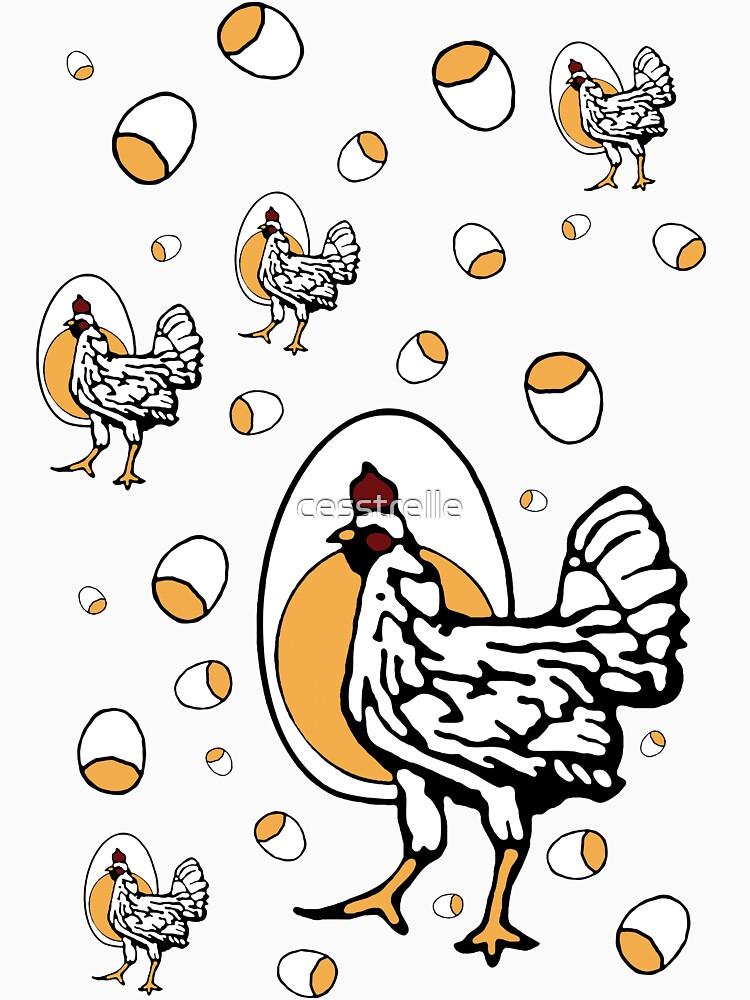 Retro Roseanne Chickens | Unisex T-Shirt