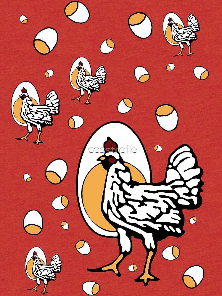 Retro Roseanne Chickens by cesstrelle