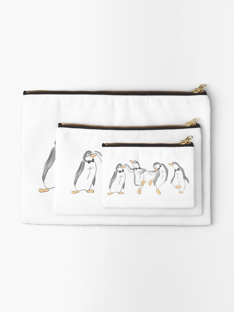 Alternate view of The Penguin Dance Zipper Pouch