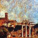 Temple of Castor and Pollux, The Forum,  Rome by David Carton