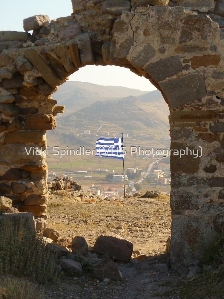 The Greek Flag by Vicki Spindler (VHS Photography)