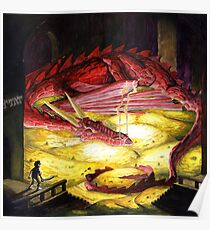 Smaug the golden Poster
