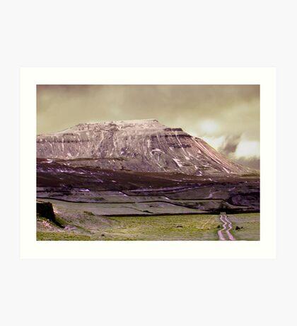 Ingleborough in the Yorks Dales Art Print
