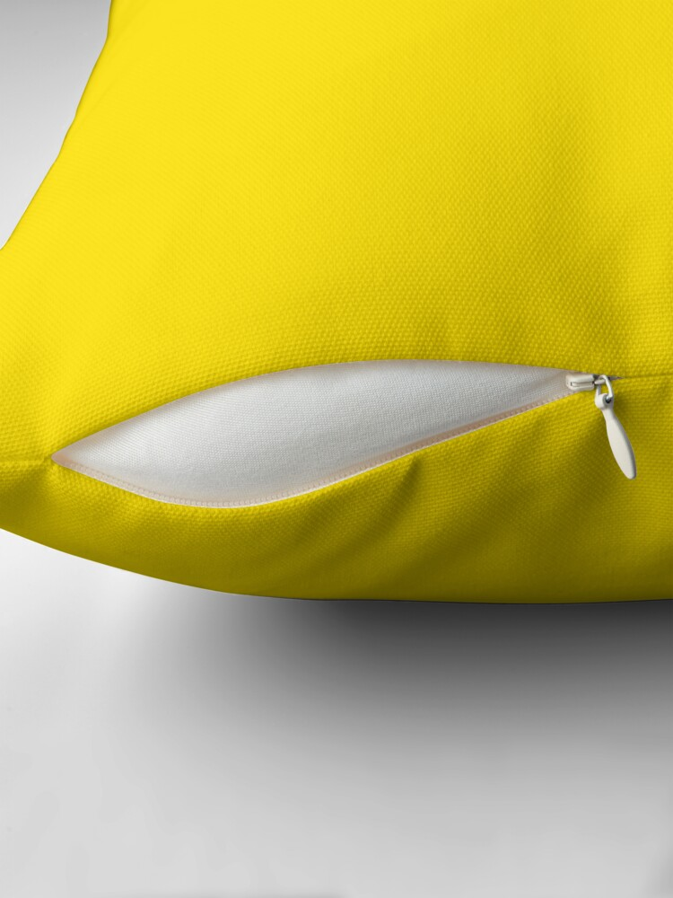 Alternate view of VERY VIVID YELLOW - THE VERY VIVID RANGE- 100 SHADES OF YELLOW ON OZCUSHIONS Throw Pillow