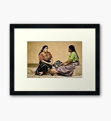 A Moment of Leisure and Friendship Framed Print