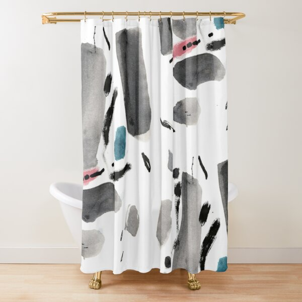 Abstract Ink Drawing Art Shower Curtain