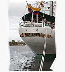 The rear of Gloria, a tall ship from Columbia Poster