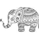 Gray Tones Cute Elephant by artonwear