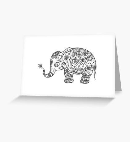 Gray Tones Cute Elephant Greeting Card