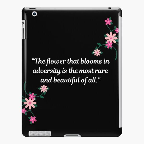Flower in Adversity - Black iPad Snap Case