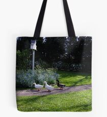 Duck Crossing Tote Bag