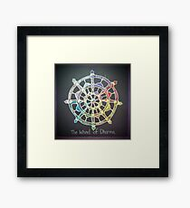 The Wheel of Dharma Framed Print
