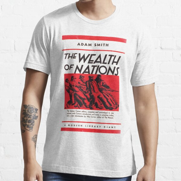 HIGH RESOLUTION The Wealth of Nations Adam Smith Vintage Book Cover Essential T-Shirt