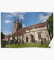 St Mary's Church, Chiddingstone. Poster