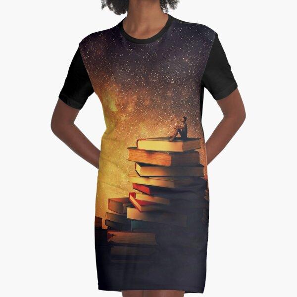 Midnight tale. Goodnight moon. Graphic T-Shirt Dress