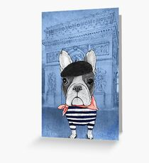 Frenchie With Arc de Triomphe Greeting Card